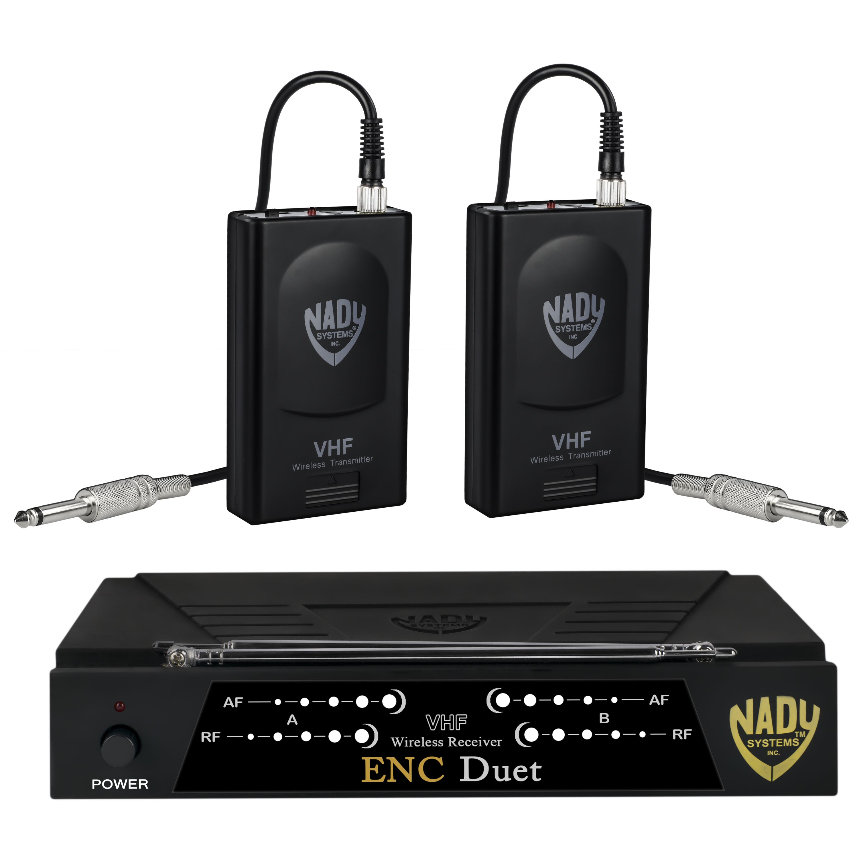 Nady ENC DUET Wireless Dual Channel Instrument   Guitar System with 2 Wireless Guitar... by