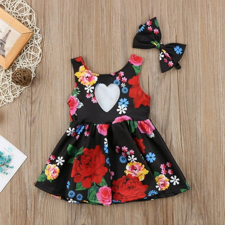 Kid Baby Girl Sister Matching Clothes Princess Floral Party Prom Bowknot Dress - image 3 of 5