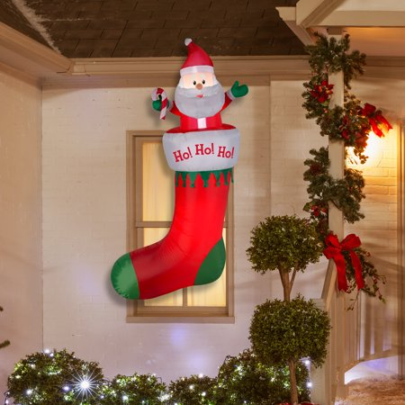 Airblown Inflatable Hanging Stocking 7ft tall by Gemmy Industries