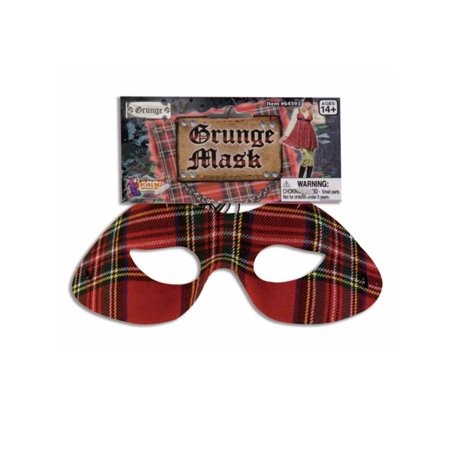 Adult or Child's Costume Accessory 90s Plaid Seattle Grunge Eye Mask - Meteor Seattle Halloween