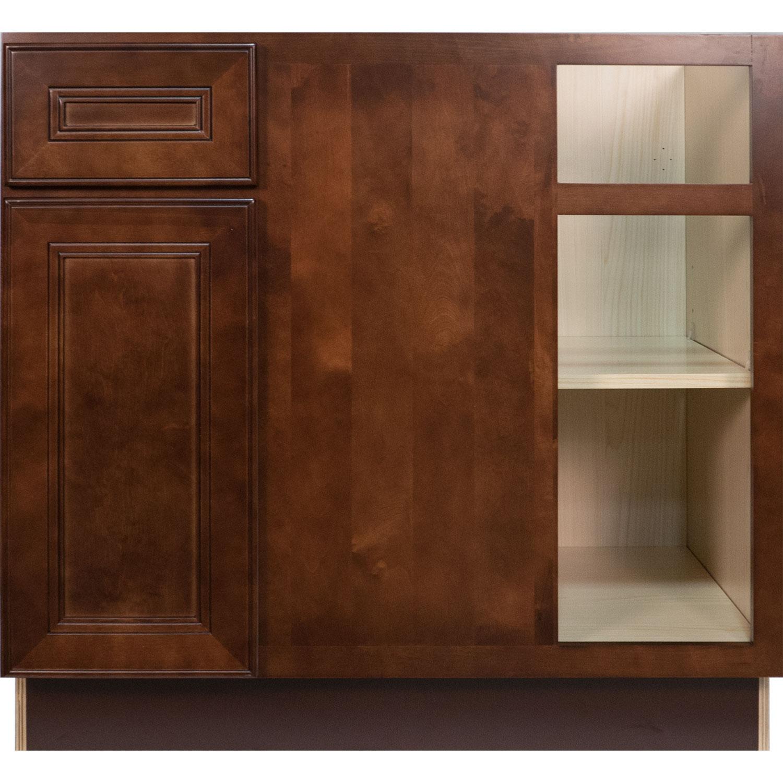 everyday cabinets 36 inch cherry mahogany brown leo saddle