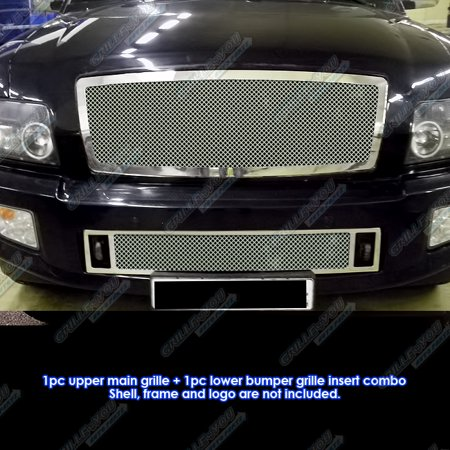 Compatible with 04-10 Infiniti QX56 Stainless Steel Mesh Grille Combo