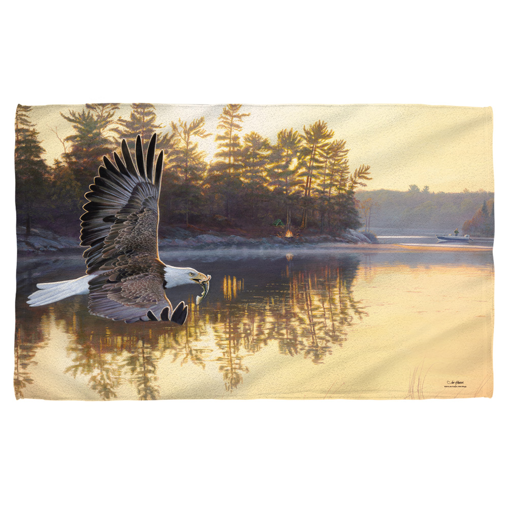 Wild Wings Gone Fishing 2 Beach Towel White 36X58