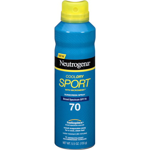 Neutrogena CoolDry Sport Spray SPF 70, 5.5 oz
