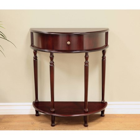 Home Craft Half Moon End Table