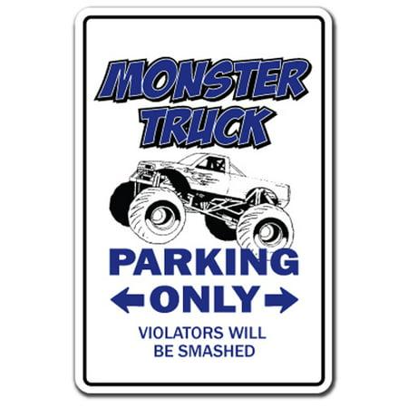 "MONSTER TRUCK Parking Decal rally owner driver trucker | Indoor/Outdoor | 5"" Tall"