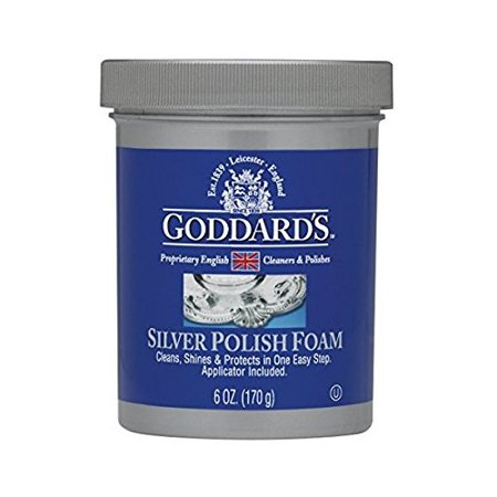 Tarnish Remover Plate - goddards silver polisher - 170g/6 oz. cleansing foam with sponge applicator - tarnish remover