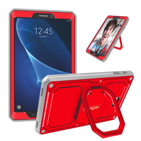 For Samsung Galaxy Tab A 10 1 NO S Pen SM-T580 Case 360 Rotating Grip Stand  Shockproof Cover Screen Protector, Red   Walmart Canada