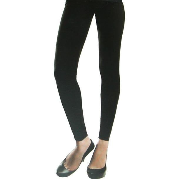 CTM® Fleece Lined Leggings (Women's Plus Size) in Black