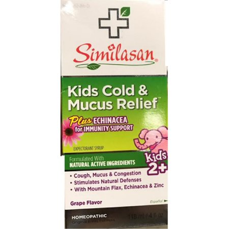 - 6 Pack - Similasan Kids Cold & Mucus Relief Syrup Plus Echinacea  4 oz