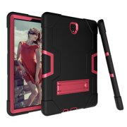 Allytech Samsung Galaxy Tab S4 10.5 2018 Case, [Heavy Duty] Rugged Hybrid Protective Kids Proof Case Cover Build in Kickstand for Samsung Galaxy Tab S4 10.5 inch SM-T830/T835/T837 (Black/Rosegold)