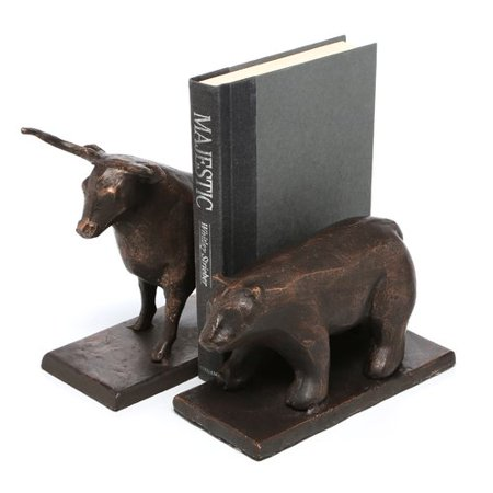 SPI Home Bull and Bear Book Ends (Set of 2) - Bull And Bear Chicago Halloween