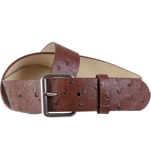 Brinley Co Womens Ostrich Print Casual Leather Belt
