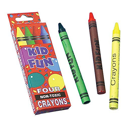 US TOY GROUP LLC -4 Pack Crayon Boxes : package of 12