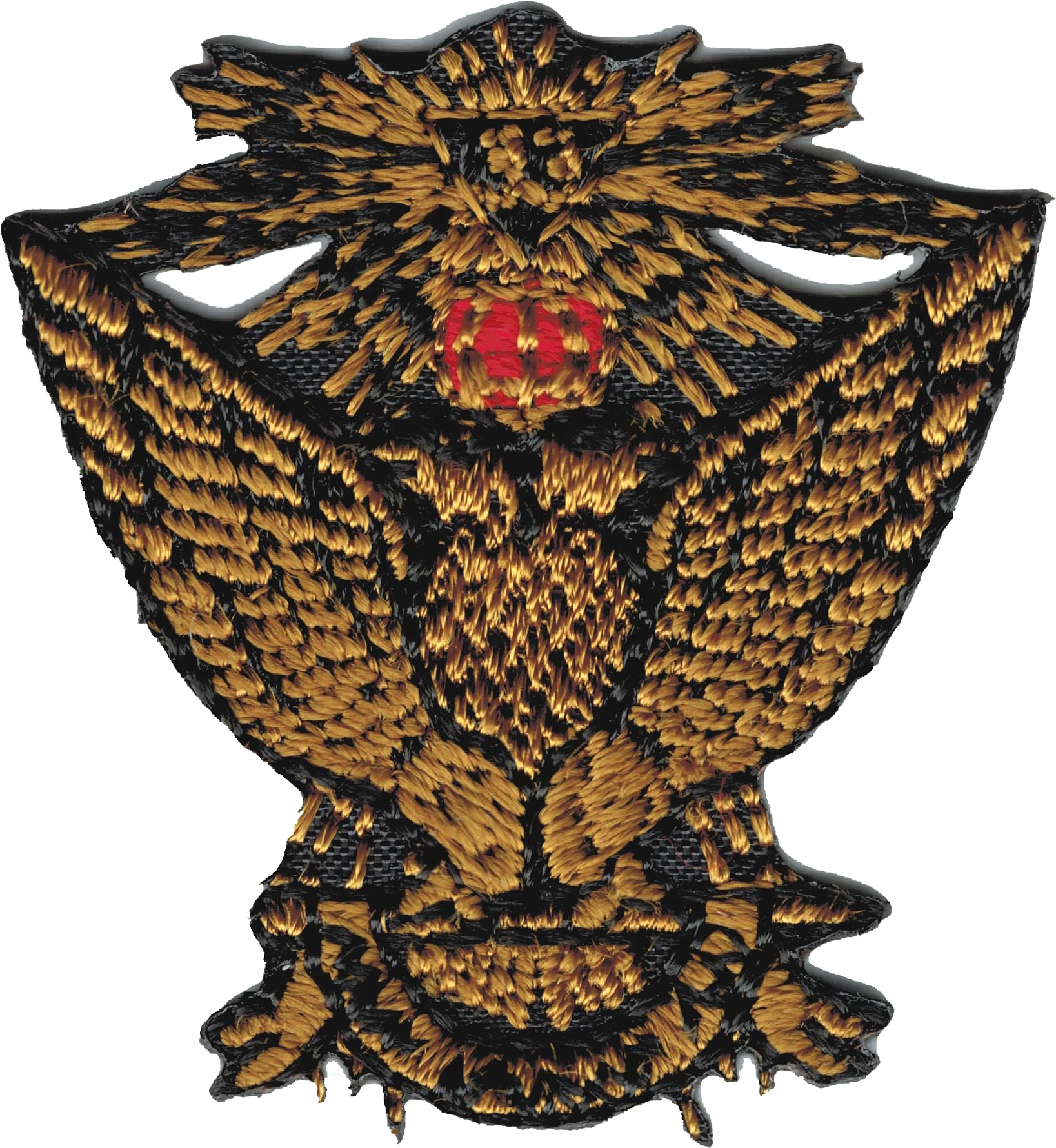 """33rd Degree Wings Up Iron-On Patch [Gold - 2.75""""]"""