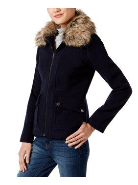 Maralyn & Me Juniors Faux-Fur-Collar Jacket