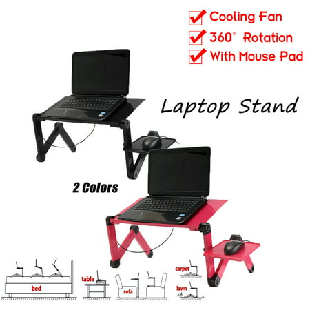 Adjustable Vented Foldable Laptop Notebook PC Table Tray Desk Tablet Desk Stand Bed Sofa Couch
