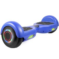 """6.5"""" Hoverboard UL2272 Certified Smart Self Balancing Electric Scooter w/Bluetooth Speaker and Flashing Wheels -Blue"""