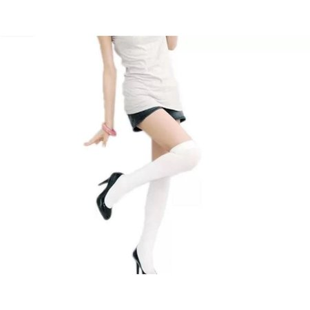 Over The Knee Sexy Cotton Compression Socks - White