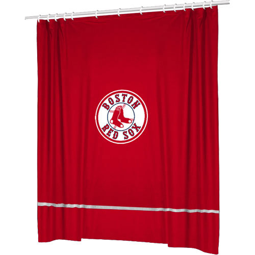 Sports Coverage MLB Boston Red Sox Shower Curtain Basebal...