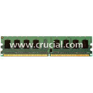 Crucial 1GB DDR2 SDRAM Memory Module - 1GB - 800MHz DDR2-800/PC2-6400 - Non-ECC - DDR2 SDRAM - 240-pin DIMM