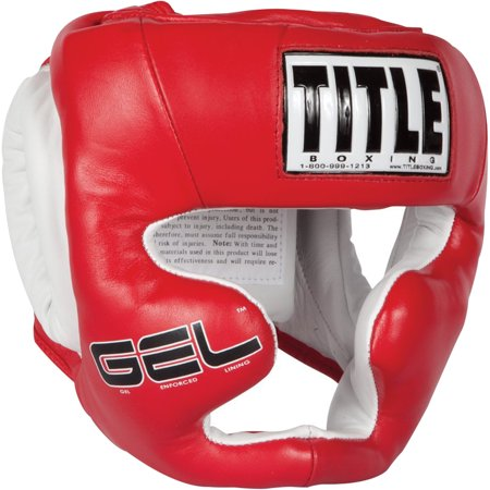 Title Boxing Gel World Full Face Training Headgear - Red - Large