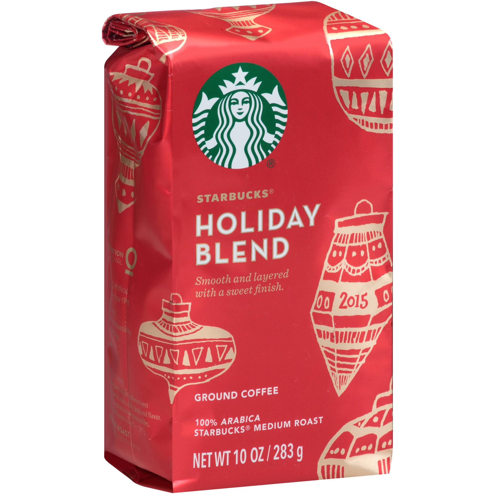 Starbucks Holiday Blend Medium Roast Ground Coffee, 10 oz