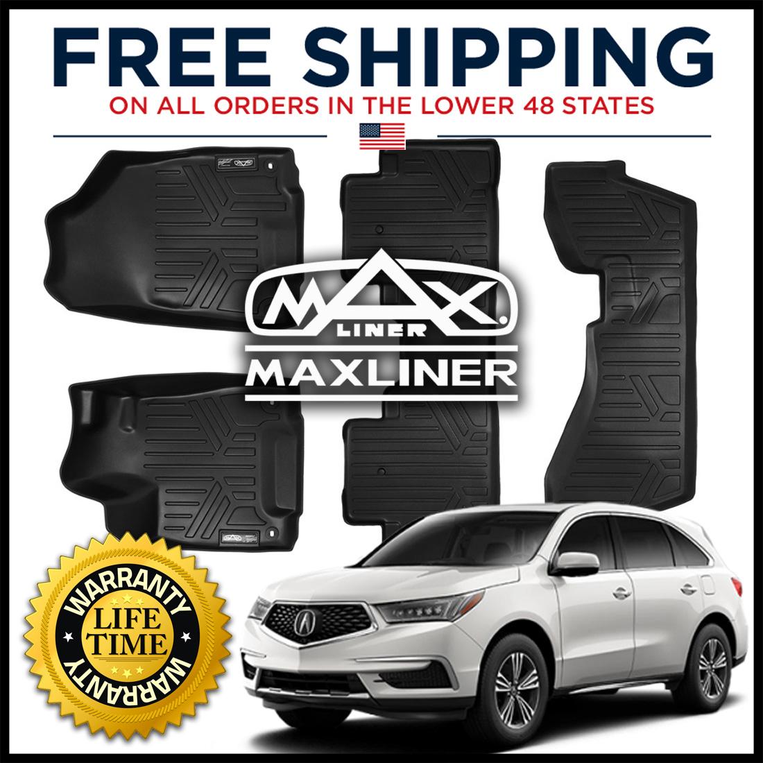 MAXFLOORMAT Front/Second/Third Row Floor Liner Mat Black
