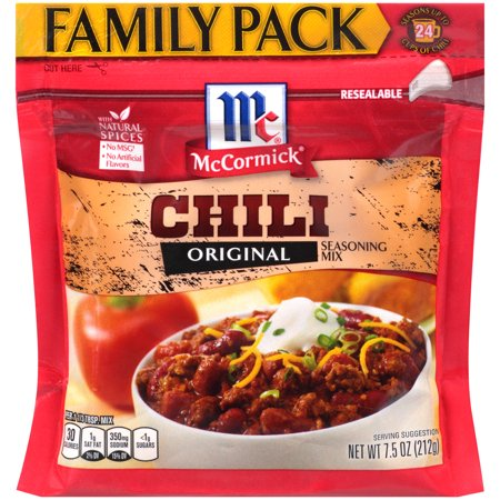 McCormick Family Pack Chili Seasoning Mix, 7.5 oz