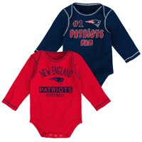 Newborn & Infant Navy/Red New England Patriots 2-Pack Long Sleeve Bodysuits