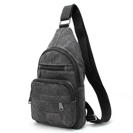 Men Women Canvas Messenger Bag Cross body Sling Shoulder Backpack Travel Rucksack Hiking Chest Bag
