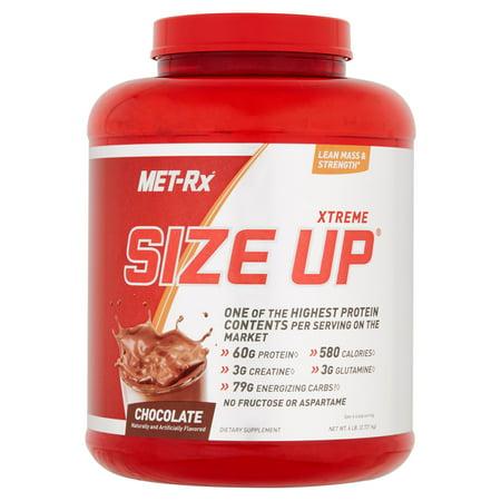 MET-Rx Xtreme Size Up Chocolate poudre de protéines Compléments alimentaires, 6 lbs