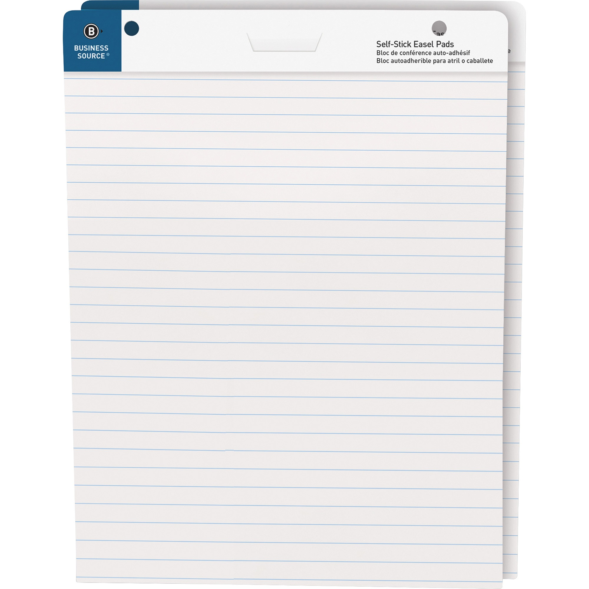"Business Source, BSN38593, 25""x30"" Lined Self-stick Easel Pads, 2 / Carton"