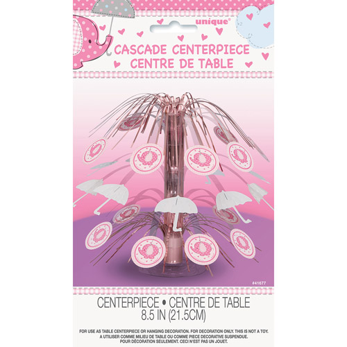 (3 Pack) Elephant Baby Shower Cascade Centerpiece, 8.5 in, Pink, 1ct