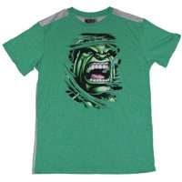 Hulk (Marvel) Moisture Wicking  Mens T-Shirt - Incredible Face Bustin Through