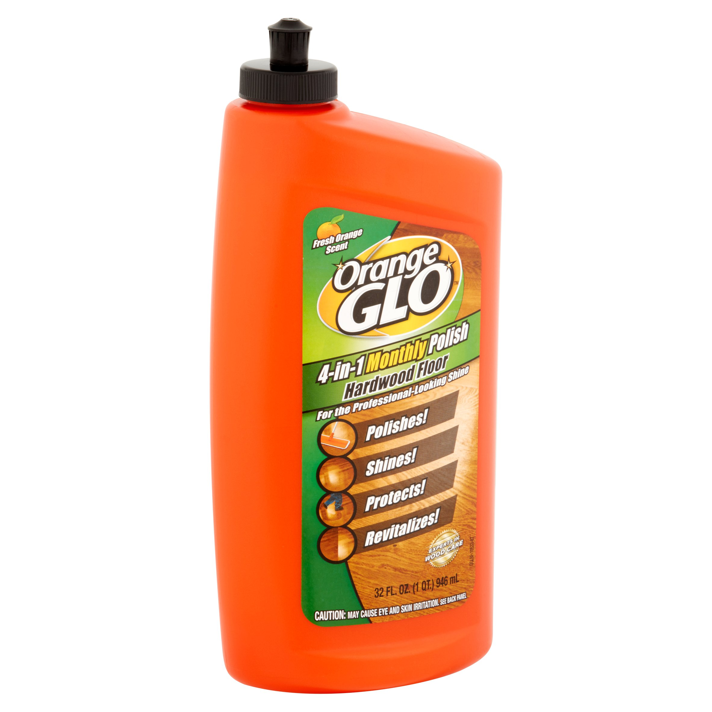 Orange Glo Hardwood Floor Polish, Orange Scent, 32oz Bottle