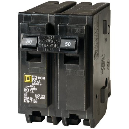 CIRCUIT BREAKER HOM 2P 1IN 50A