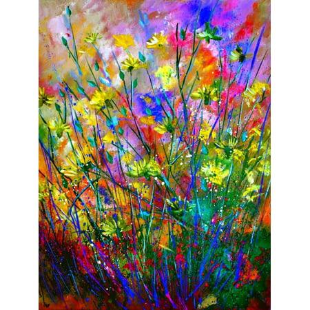 Wild Flowers Colorful Bohemian Floral Print Wall Art By Pol Ledent](Bohemian Wall Art)