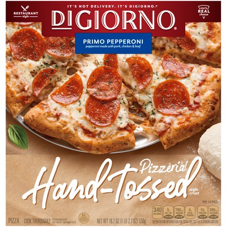 DIGIORNO PIZZERIA! Primo Pepperoni Hand-Tossed Style Crust Frozen Pizza 18.7 oz. Box