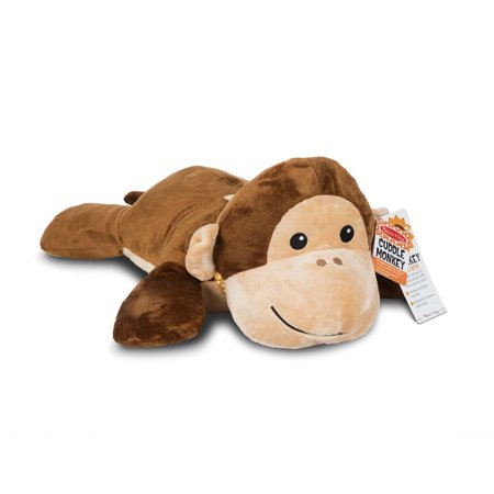 Jumbo Monkey - Melissa & Doug Cuddle Monkey Jumbo Plush Stuffed Animal with Activity Card