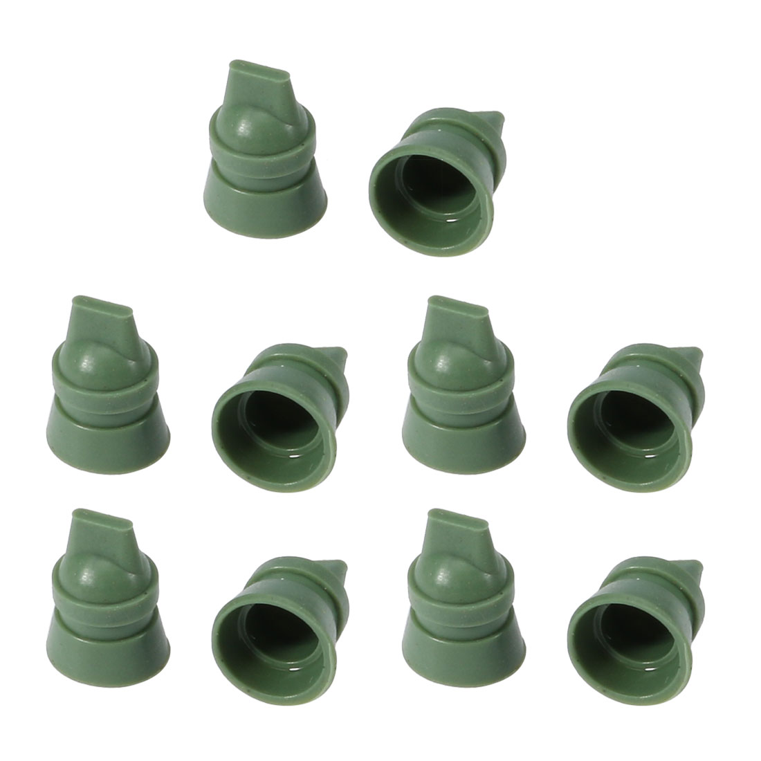 10pcs Replacement Parts Silicone Air Filter Cleaner Duckbill Valve Green