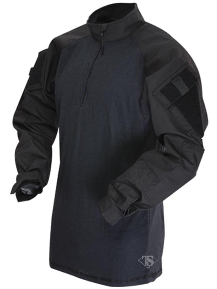 Truspec Tru Long Sleeve 1//4 Zip Combat Shirt Od Green Regular Large 2565005