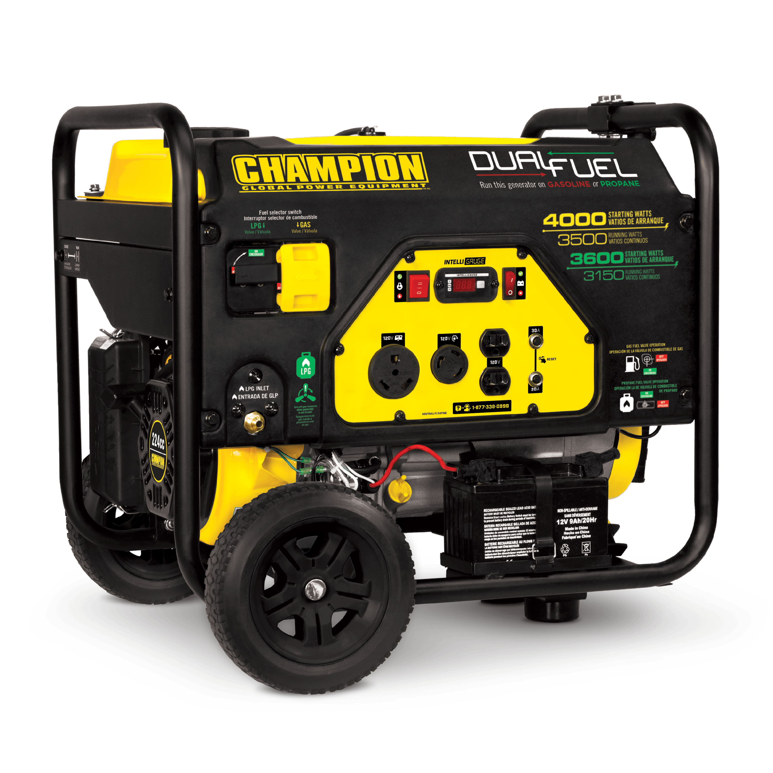 Champion 100397 3500-Watt Dual Fuel Portable Generator