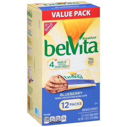 Nabisco belVita Blueberry Breakfast Biscuits, 1.76 oz, 12 count