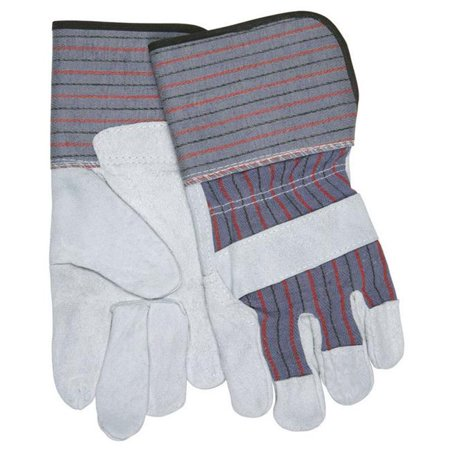 Safety Works 7408933 Universal Large Cowhide Leather Palm Work Gloves, Gray - image 1 of 1