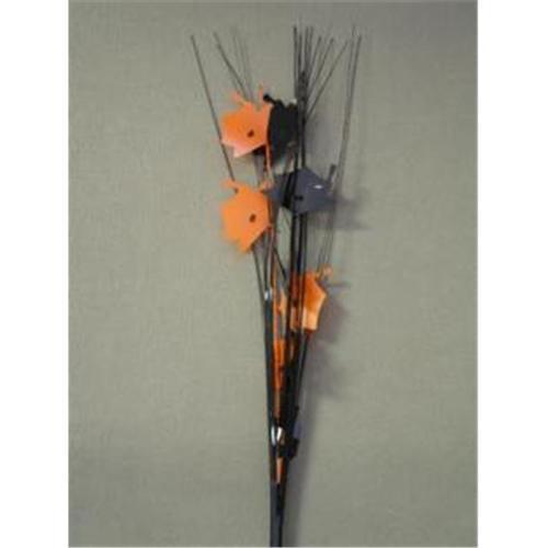 Party Deco 36309 21 inch Black and Orange Grad Caps Spray- Pack of 13