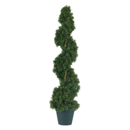 Nearly Natural Cedar Spiral Silk (Ball Topiary Silk)