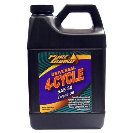 Pure Guard Universal 4 Cycle Oil Sae 30w 18 Oz