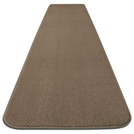 Skid Resistant Carpet Runner Camel Tan 6 Ft X 27 In