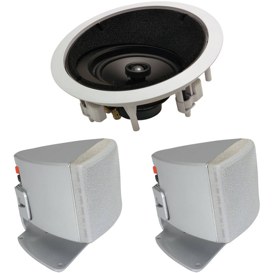 "ArchiTech LCRS 6.5"" 2-Way Angled In-Ceiling LCR Loudspeaker and Bonus Speakers"